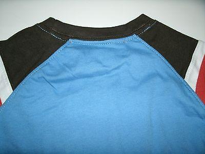 Oshkosh Boy's T-Shirt Long Sleeve Blue Brown Orange Size 3 Months New 8