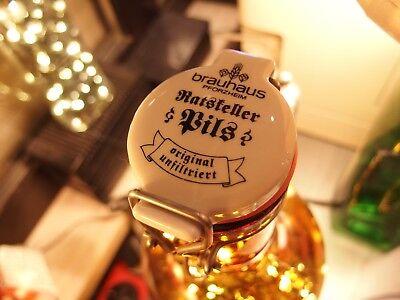 Flaschen Lampe Ratskeller Pils Krug rustikal Tischlampe mit 120 LED´s ww+MC 9