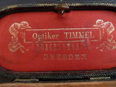 altes, emailliertes Opernglas - Timmel / Dresden - floraler Dekor - in OVP