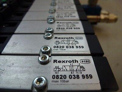 11x Rexroth 0820 038 959 + 1 827 414 808 + 1 825 503 891 Pneumatikverteilerblock