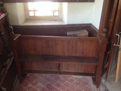 Victorian Church Neo Gothic Pew chapel settle bench Elders Seat TallSlimBookcase 6