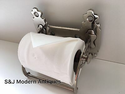 Unusual Toilet Roll Holder Chrome Novelty Vintage Victorian Silver Shabby Chic 5