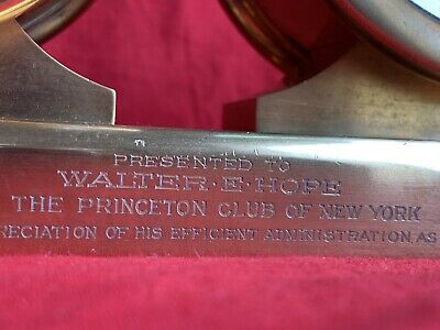 Antique Chelsea Clock Co barometer/timepiece desk clock Princeton President 1927 6