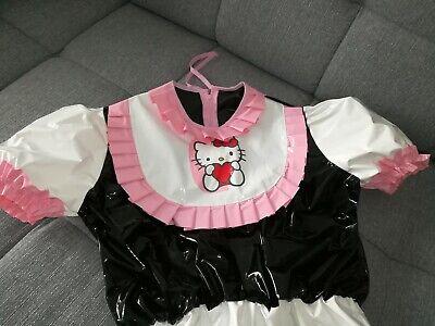 Adult Baby Body Spreizbody Windelbody DIAPER SPREIZHOSE PVC LACK HALLO KITTY XL 10