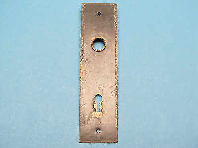 Antique Victorian Cast Iron Brass Knob Flange Door Backplate Eastlake Back Plate
