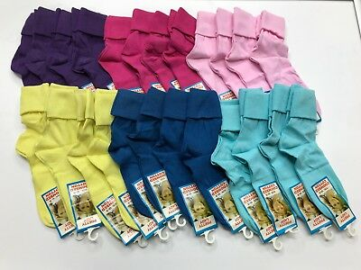 4 x Girls Plain Colour  short slouch socks  soft Cotton ,pink purple blue yellow 4