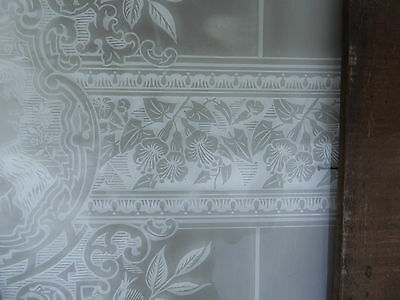 Victorian - Antique - Vintage Etched Glass Window - Circa 1890 4