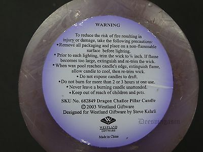 Mythical DRAGON Purple Candle & Knife Set Tealight Tea Light Gift Set NEW