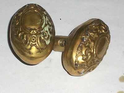 Antique Itallian Oval Door Knob Set 3