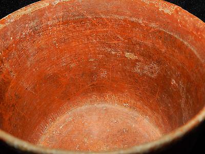 Pre-Columbian Polychrome Three-Footed Mayan Ceramic Pot, Authentic, Rare 8