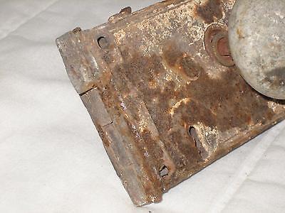 "4.5"" Antique Cast Iron Door Lock With Porcelain Knob 2"