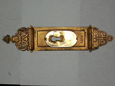 "Antique Eastlake Victorian Pocket Door Pull 10 1/2"" x 2 1/2"" Stamped 3278 2"