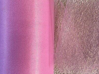 5m of 150mm Wide Soft Nylon Fuschia Tulle Netting Fabric Wedding//Tutu//Crafts