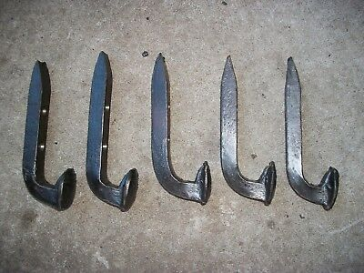 14 WIRE-BRUSHED Horse Tack Hooks Coat Or Hat Rack Railroad Spikes Stable Hanger 4