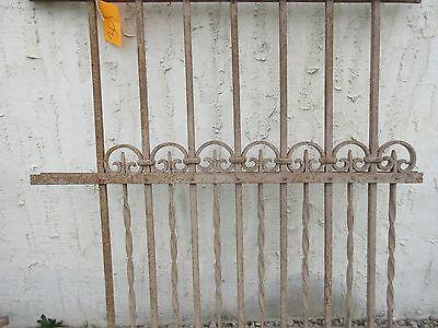 Antique Victorian Iron Gate Window Garden Fence Architectural Salvage Door #301 3