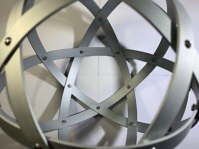 Genesa Pentasfera diametro 31 cm satinato argento profilo 1,5 cm + ciondolo 6