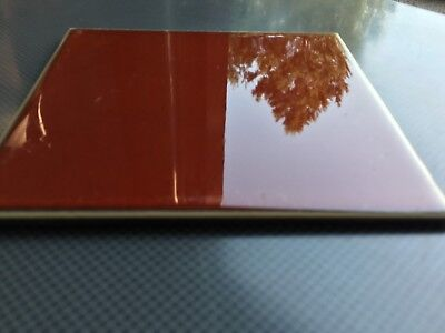 Vintage Beautiful Made In Germany 🇩🇪 Ceramic Tile Color Is Red Orange 5
