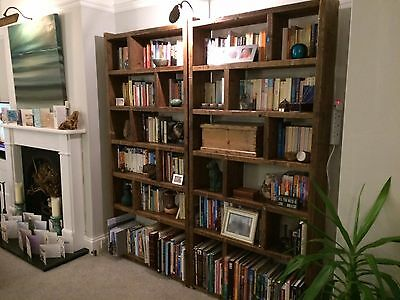 Pigeon holes ZIG ZAG industrial rustic bookcase wood factory salvage gplanera 6
