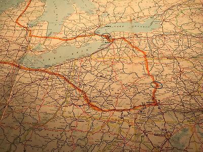 VINTAGE 1962 ESSO Eastern US and Adjacent Canada Road Map ...