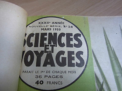 Binding of the Journal Science & Voyages Mars 1950 to March 1952 NOS 51 À 75 3