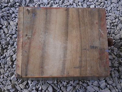 Antique Vintage Wooden Box Wiht Tree Drawers Beautiful Painting 7
