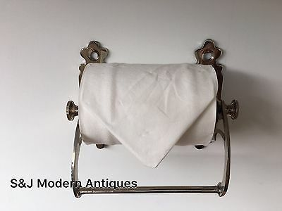 Unusual Toilet Roll Holder Chrome Novelty Vintage Victorian Silver Shabby Chic 11