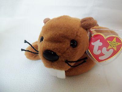 TY Beanie Babies Beaver ** BUCKY **  4th Gen New w/ Tag