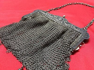 Antique Greek Pewter Womens Purse Alpacca Handbag Ladies Greece Grecia Peltro 7