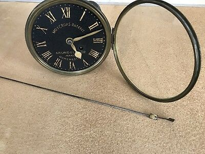 Rare Fusse Timepiece Movement, Dial Bezel With Glass And Long Drop Pendulum. 8