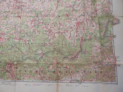 Große Landkarte Chemnitz Plauen Zwickau und Umgebung, Velhagen & Klasing 1942