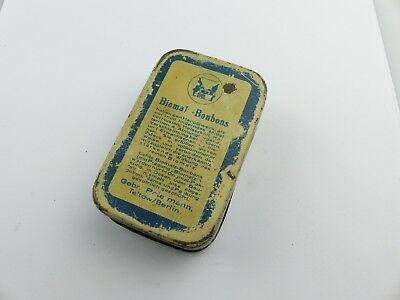 #e8275 Alte Blechdose Biomalz Bonbons mit original Werbezettel innen sehr selten 6