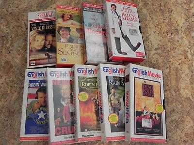 Lotto 9 Vhs English Movie Collection e Speak Up Film in lingua inglese originale 3
