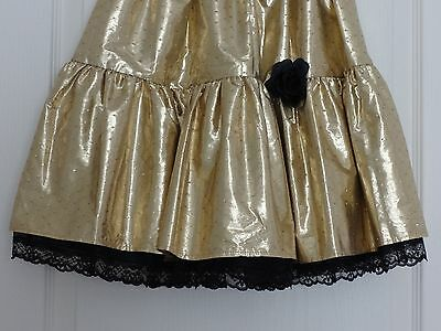Girl's Metallic Gold Coloured Party Skirt, Fully-Lined, 11-14 Years 3