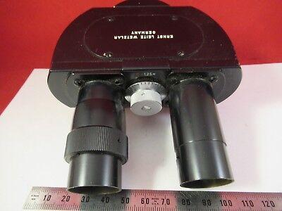 Leitz Wetzlar Allemagne Jumelles Tête Optiques Microscope Pièce comme sur Photo 4