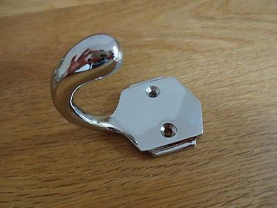Set Of 10 Chrome Art Deco Coat Hooks Door Knobs Handles 6
