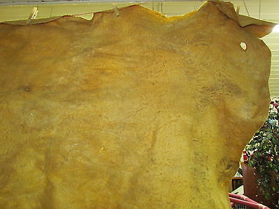 "Native American Light Color Home Tanned Hide 49"" By 35"" Irregular Shaped"