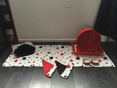 DT  Hedgehog Starter Set,wheel,tray,bowls,bed,tunnels,liners Blankets Or Worms 7