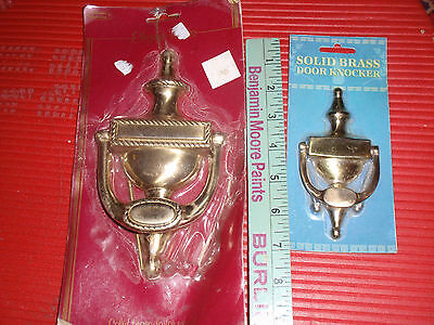 "Pair Of New Brass Door Knockers 8"" & 4"" 7"