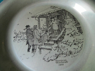 """Sterling 925 PLATES NORMAN ROCKWELL CHRISTMAS FRANKLIN MINT 8"""" -1971/75 - PICK 1 5"""