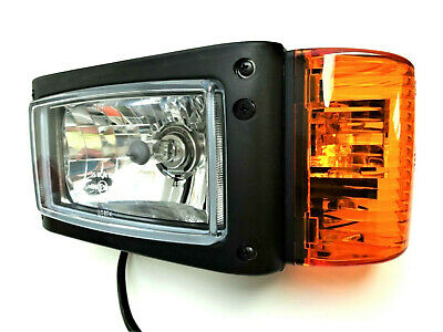 2x H4 Scheinwerfer mit Blinker 12V f Radlader Baumaschinen Bagger JCB Merlo L+R