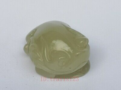 Collection China Xinjiang Jade Hand Carving Jin Chan Propitious Pendant Gift 4