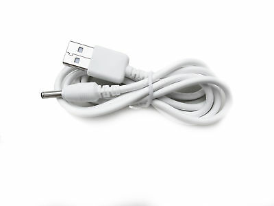 90cm USB White Charger Power Cable for Motorola MBP33S Parent Unit Baby Monitor