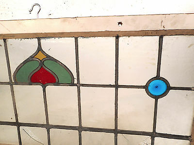 Vintage Stained Glass Window Panel (3179)NJ 5