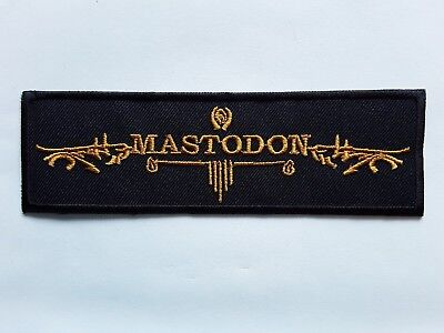 MASTODON  AMERICAN HEAVY METAL HARD ROCK MUSIC BAND EMBROIDERED PATCH UK SELLER