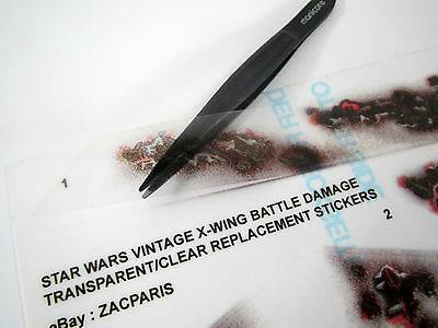 CUSTOM REPLACEMENT CLEAR STICKERS for VINTAGE STAR WARS - X-WING BATTLE  DAMAGE +