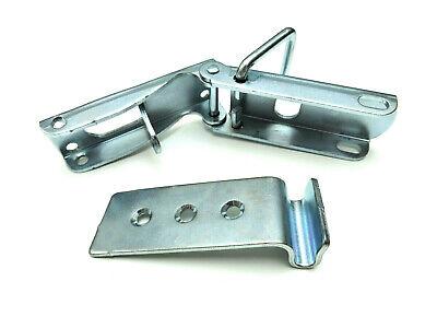 2x Exzenterverschluss Verschluss Bordwandverschluss mit Haken PKW Anhänger 93 mm