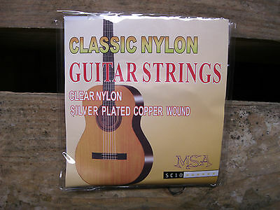 █░ 1 Satz Nylon-Gitarrensaiten Konzertgitarre-Sc10-Stärke 028-043 +3 Piks Gratis 4