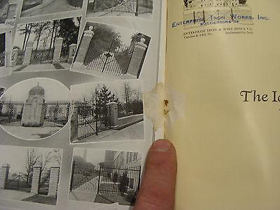 vintage Original Catalog: ENTRPRISE WROUGHT IRON fences-gates-arches, 1931 or so 9