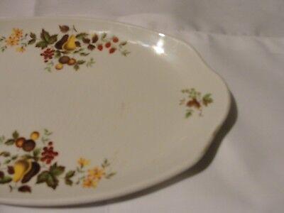 Vintage floral china serving platter 12