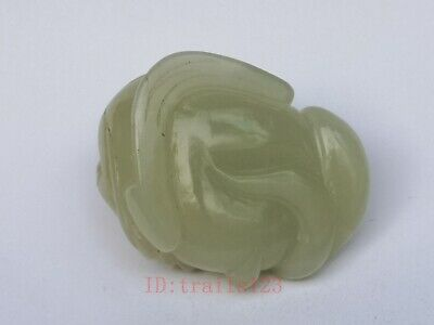 Collection China Xinjiang Jade Hand Carving Jin Chan Propitious Pendant Gift 6
